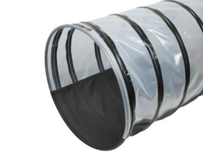 Agility Tunnel diameter 80 cm Half Anti-slip Transparant