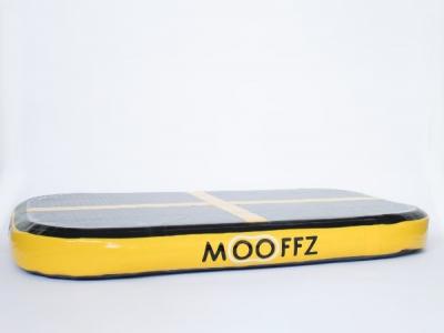 Mooffz airkussen L100 x B60 x H10 cm, geel, inclusief voetpomp